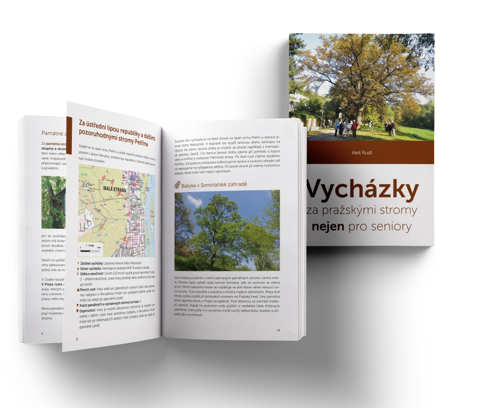 Nová publikace – Vycházky za pražskými stromy nejen pro seniory